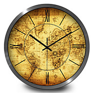 Κυκλικό Μοντέρνο/Σύγχρονο Ρολόι τοίχου,Άλλα Μέταλλο 30*30*7