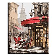 Ručně malované Lidé olejomalby,Klasický / Tradiční / Realismus / Středomoří / Pastýřský / evropský styl / Moderní Jeden panel Plátno