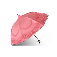 "Wedding / Daily Lace / Terylene Umbrella Post Handle Pink 21.7""(Approx.55cm) Plastic 35.4""(Approx.90cm) Pagoda"