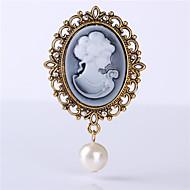 ročník punková perla drahokamu přívěšek brož na svatbu