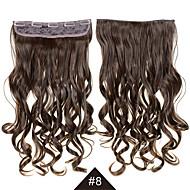 long clip ondulés bouclés synthétique de cheveux dans les cheveux synthétique résistant cosplay synthétique cheveux # 8 24inch 60cm de