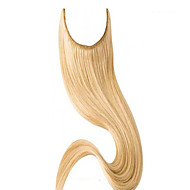 Blonde Color Straight Brazilian Remy Human Hair Extension Easy to Wear Flip in Hair Extension