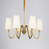 MAX:60W Chandelier ,  Country Brass Feature for Designers Metal Living Room / Bedroom / Dining Room / Hallway