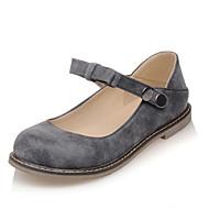 Желтый / Красный / Серый-Женская обувь-Для офиса / Для праздника / На каждый день-Дерматин-На плоской подошве-Удобная обувь-На плокой