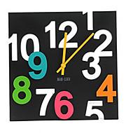 מודרני / עכשווי בתים אחרים יומהולדת שעון קיר,מלבני בבית/ בטבע שָׁעוֹן