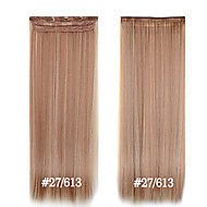 Synthetic Clip in Hair Extensions 24inch 5 Clips #27/613 Heat Resistance Fibre Straight Hair Clip In High Grade
