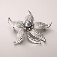 European and American fashion zircon Pearl Brooch Series 006