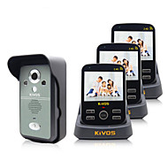 KiVOS Wireless Video Intercom Doorbell Household One For Three Monitoring Video Camera Lock