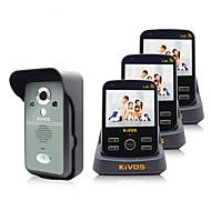 kivos bezdrátový videotelefon zvonek domácnosti jednoho na tři monitorování zámku videokamery
