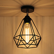 Vintage Loft Ceiling Lamp Light Direction Adjustable Wrought Iron Birdcage Flush Mount Entry Hallway Kitchen lights