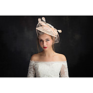Women's Feather / Tulle / Flax / Net Headpiece-Special Occasion Fascinators 1 Piece Clear Irregular 15