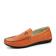 Herren-Loafers & Slip-Ons-Lässig-PU-Flacher Absatz-Komfort-