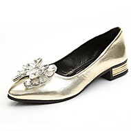 Women's Shoes Crystal Patent Leather Comfort / Pointed Toe Flats Office & Career / Casual Flat Heel