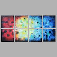 Pintados à mão Abstrato Horizontal Panorâmica,Moderno Mais que 5 painéis Tela Pintura a Óleo For Decoração para casa
