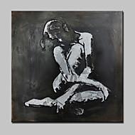 ручной росписью современной абстрактной девушки картины маслом на холсте стены искусства картины с растянутой кадр готов повесить