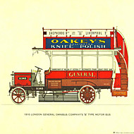 Stretched Canvas Print, Early Commercial Vehicles