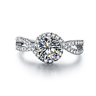 1 Carat Wave Style Genuine Silver 925 Engagement Ring for Women High Quality SONA Diamond Female Propose Jewelry Pt950