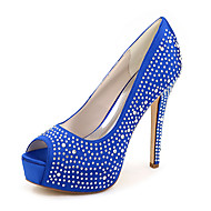 Women's Shoes Silk Stiletto Heel Peep Toe Sandals Wedding/Party & Evening More Colors available
