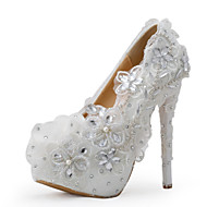 Women's Shoes Silk Stiletto Heel Heels Heels Wedding / Party & Evening / Dress White