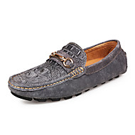 CEYUE Men's Shoes Leather Casual Walking Flat Heel Slip-on More Color EU39-43