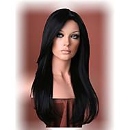 vackra långa svarta raka hår peruk kvinnor syntetiska peruker fri frakt