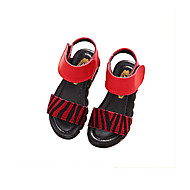 Girls' Shoes Casual Comfort Faux Leather Sandals Black / Yellow / Red