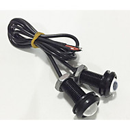18MM LED Car Lights Hawkeye Daytime Running Lights Reversing Lights Highlight The Ultra-Thin Waterproof Lights