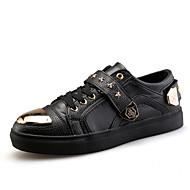 Kényelmes-Lapos-Női cipő-Tornacipők-Szabadidős Alkalmi Sportos-Mikroszálas-Fekete Piros Fehér