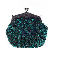 L.WEST Women's The Elegant Glitter Bead Embroider Cheongsam Evening Bag