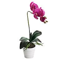 Hedvábí / PU Orchidej Umělé květiny
