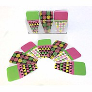 Decorated Clip Tabs / Pin / Labels Cute / Business / Multifunction,Paper / Flower Pink Green