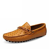 Men's Shoes Nappa Leather Casual Walking Flat Heel Slip-on Black / Brown / Yellow EU39-44