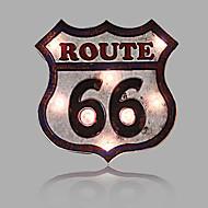 E-HOME® Metal Wall Art LED Wall Decor,Route 66 LED Wall Decor One PCS