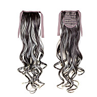 """22""""(55cm) 100g Long Curly Wave Sl Ribbon Ponytails #6 Clip in Hair Extensions Ponytail Synthetic Hairpiece Accessories"""