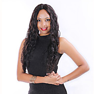 """8 """"-30"""" brasileira frente virgem do cabelo humano solta rendas onda perucas cor preta natural com o cabelo do bebê para as mulheres negras"""