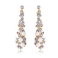 Fashion Classic Luxury Full Rhinestone Long Section Bridal Accessories Pearls Earrings