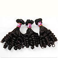 Az emberi haj sző Indiai haj Göndör 3 darab haj sző