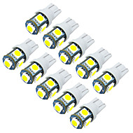jiawen 10pcs/lot T10  0.8W 5X5050SMD 55LM for Car Light Bulb (DC12V)
