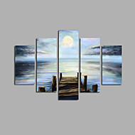 Pintados à mão Paisagem Modern,5 Painéis Tela Hang-painted pintura a óleo