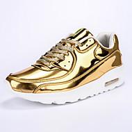 Herren-Sneaker-Outddor Lässig Sportlich-Leder Wildleder-Flacher Absatz-Komfort-Schwarz Silber Gold