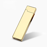 1PC Mini  Cigarette Lighter  USB Charging Ultra-thin Windproof Lighter