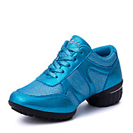 Non Customizable Women's Dance Shoes / Fabric Leatherette / Fabric Dance Sneakers / Sneakers Flat HeelPractice