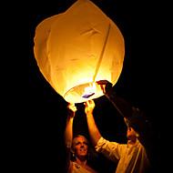 casamento desejando com vela fogo chinesa papel do vôo do céu flutuante lanterna cor aleatória