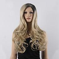 Top Grade Blonde Ombre Wig Long Wavy Cheap Women Synthetic Wig Fashion Natural Hair Women's Wigs