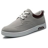 Herren-Sneaker-Lässig-Kunststoff-Flacher Absatz-Komfort-Schwarz Blau Braun Grau