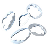 5PCS/set Food Grade Plastic Cloud Shape For Fondant Cake, Cookie Cutter , Candy Decorating Tools