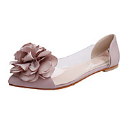 Women's Flats Spring / Fall Ballerina / Pointed Toe Leatherette Outdoor / Office & Career / Casual Flat Heel Applique