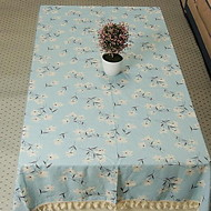 New Pastoral Cloth Tassel Multi-use Tablecloths for Side Table (140 * 140cm)