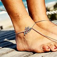 eenvoudige sen afdeling retro fashion verlaat turquoise kwastje enkelbanden armband