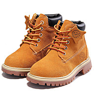 Boy's Boots Spring/Fall/Winter Combat Boots Nappa Leather Athletic / Casual Flat Heel Blue/Brown / Red Sneaker